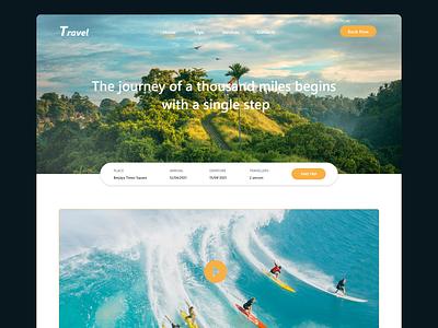 Travel front-end design ui ux web design adobe xd