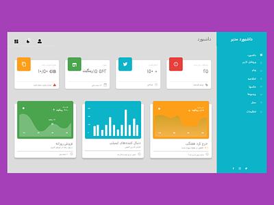 Persian Admin Dashboard ui front-end web design ux adobe xd