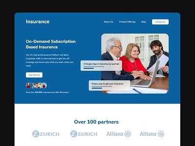 Insurance landing Page Web & Mobile UX insurance web web design adobe xd ux