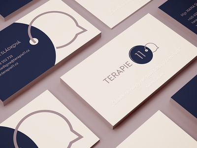 Psychotherapy n°11 business card talk bubble speech psychotherapy logo chain key eleven circle