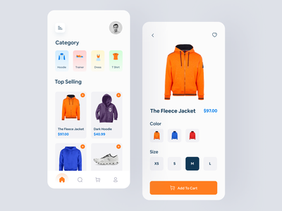 E-Commerce App ui design uidesignpatterns uidesigns clothes shop shopping shopping app uxdesigns uidesign ecommerce design ecommerce app ecommerce branding uxui ux ui typography design app uiux