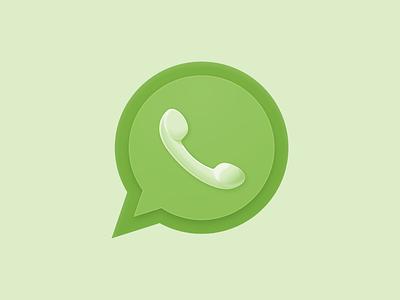 Whatsapp Icon app green circle message phone whatsapp icon