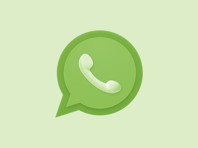 Whatsapp Icon app green circle message phone whatsapp icon