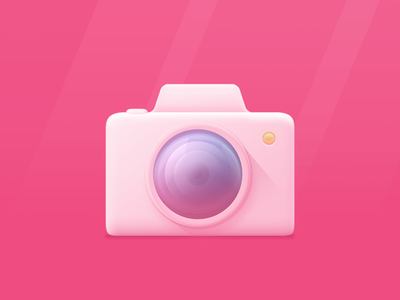 Camera icon practice style body lens photo camera icon