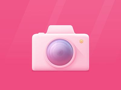 Camera icon practice style body lens photo camera icon