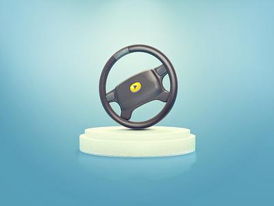 Steering wheel vray cinema 4d c4d icon play steering wheel wheel