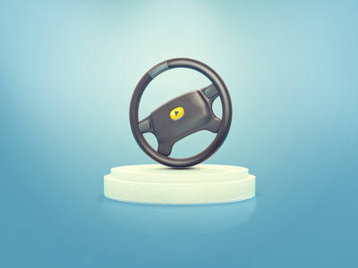 Steering wheel vray cinema 4d c4d icon play steering wheel wheel