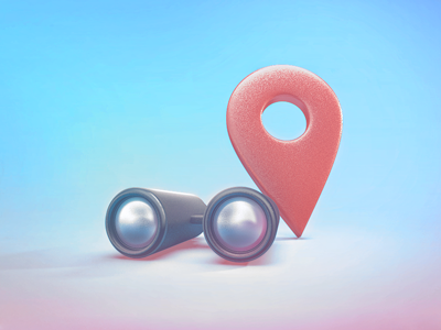 Find location Icon colors teaser 3d find icon location