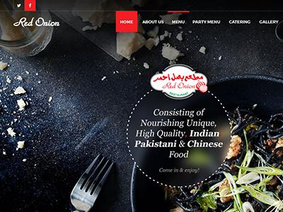 Redonion webdesign food redisthenewblack ui inprogress restaurant web design