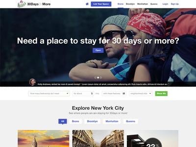 30 Days Or More design ux ui explore webdesign website