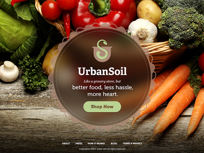 Urban Soil webdesign food ui organicfood web design