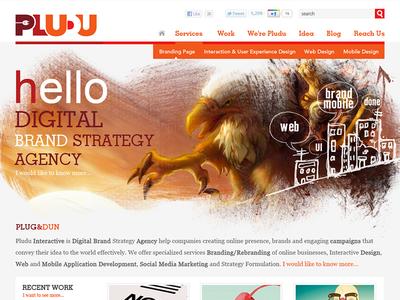 Pludu Digital Agency Design - FREE PSD creative agency landing webdesign clean freebie ux ui design free psd psd