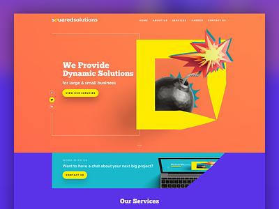 Squaredsol.com muzli inspiration pakistan karachi designer ux ui web design landing agency