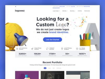 Logo Design Landing Page