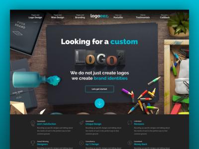 Logo Landing Page 2 dark color web design ux user interface ui real objects muzli design logo landing featured agency