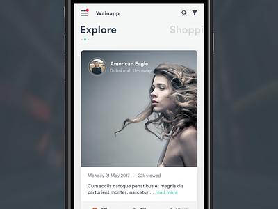 Wainapp feed news feed explore web designer designer pakistan karachi ux designer concept ui design mobile