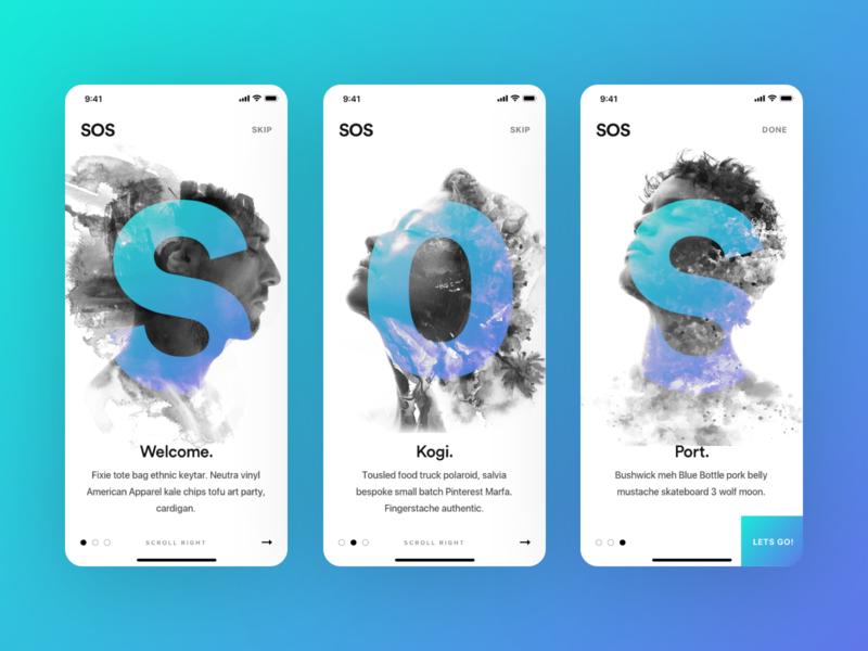 SOS Method Art-board Direction 2 agency mobile app design onboarding screens onboarding pakistan karachi muzli mobile user interface illustration clean ux design