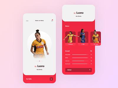 Futsal Taboão da Serra — Adote um Atleta ⚽ art type illustration vector design app ux ui icon ui design