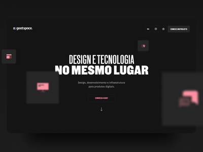 Goatspace — Homepage Hero flat logo website minimal web ux ui typography design ui design