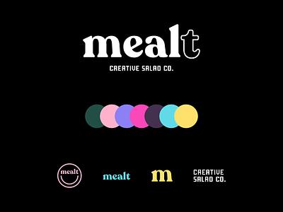 Mealt — Logo icon illustrator typography logo illustration branding minimal flat design