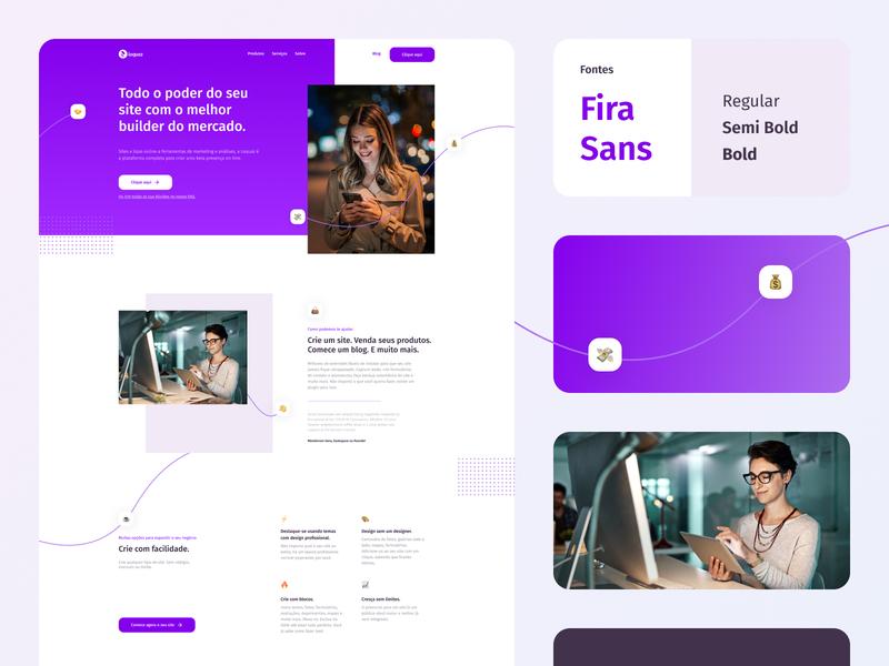 Loquaz — Homepage website web ux logo ui design ui minimal icon flat design