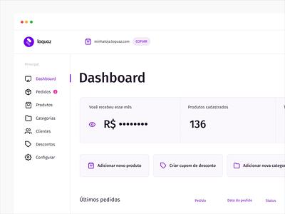 Loquaz — Dashboard product design branding icon flat loquaz purple plataforma platform ux design ux design ui design ui
