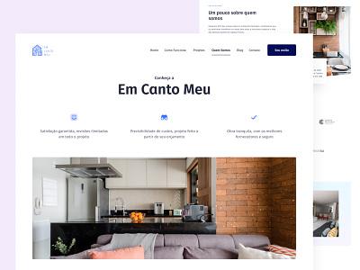 Em Canto Meu — Quem Somos minimal branding logo architecture architetc product design ux design ux icon design ui design ui flat