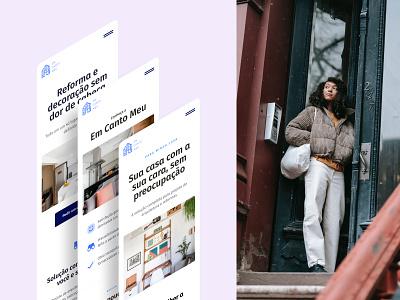Website Mobile — Em Canto Meu brazil em canto meu flat mobo website site mobile ux design minimal ux design ui design ui