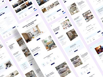 Website — Em Canto Meu illustration logo minimal branding arquitetura em canto meu ux design icon ux design ui design ui flat