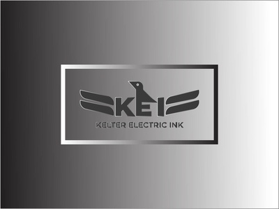 KEI LOGO DESIGN ink electric kelter branding typhography illustration design vector minimalist logo bird i e