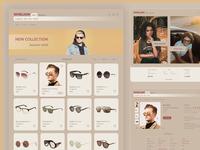 Sunglasses - E-commerce pastel colours accessories sunglasses clean store retro webdesign uiux internet shop ecommerce