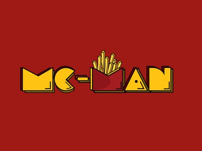 MC-MAN fries design vector illustration branding food mcdonalds