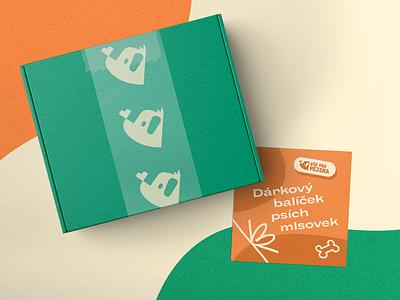 Gift box with dog treats 🐶 online store packaging design branding illustration dogillustration dog
