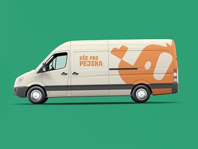 Truck with dog treats 🦴 illustration truck car mockup typography logo branding drawing dogillustration dog design