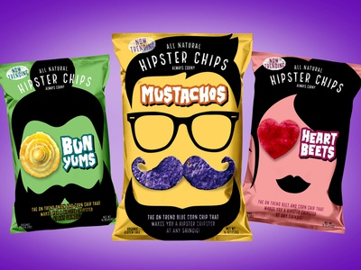 ALL 3 Hipster Chipster Bags