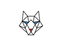 Wolf adobe illustrator abstract identity icon minimal simple mark geometric logo branding dog line animal wolf