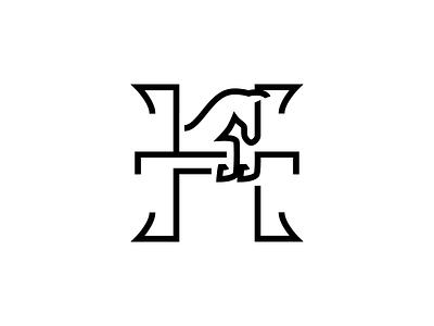 Horse abstract logo abstract alphabet logo design horse logo logotype jumping sport equine line vector branding minimal icon mark logo horse letter animal