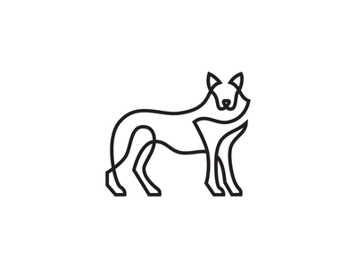 Wolf gray north america drawing animals logo art nature wild identitydesign minimal design vector illustration simple icon mark logo single line animal dog wolf