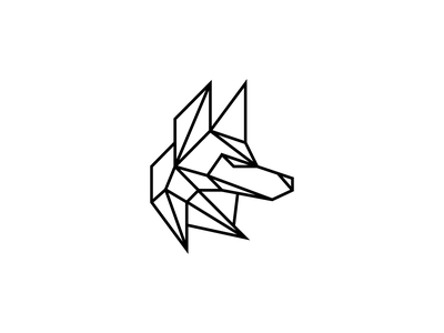 Coyote digital fresh head lucid sports logo fitness character icon minimal line animal mark branding illustration logo futuristic geometric abstract wolf coyote