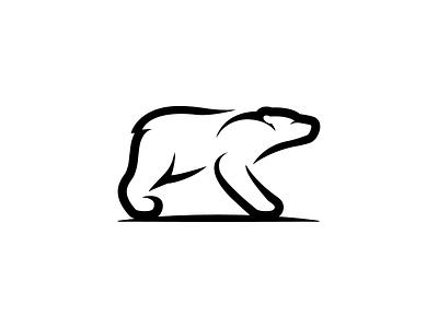 Polar Bear Logo custom logo design logo design bear identity animal logos smart logo negative space cover book logo talks logo designer branding identity simple minimal logos mark animal logo bear polar bear