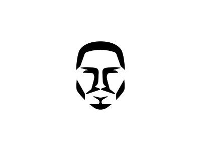 Face Logo simple vector beard icon symbol consultant app brand identity branding logo design face logo man negative space mark minimal logo person head face