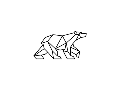 Polar Bear branding mark icon winter snow vector logo design geometric poligon line bear logo animal logo animal pole north arctic polar bear abstract bear