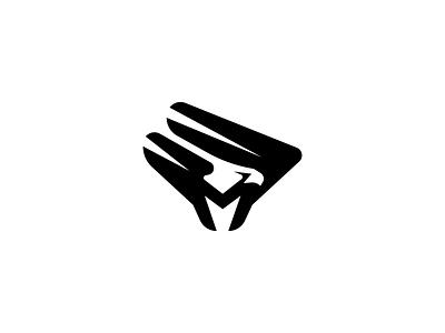 Eagle Mark letter american wings hunter sports predator hawk falcon vector identity illustration branding logos icon animal logo mark bird logo m bird