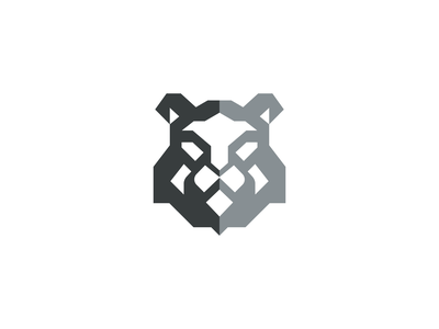 Lion Logo tiger king pride design icon mark negative space minimalist logo geometic face head animal logo animal africa wild big cat leo leone lion