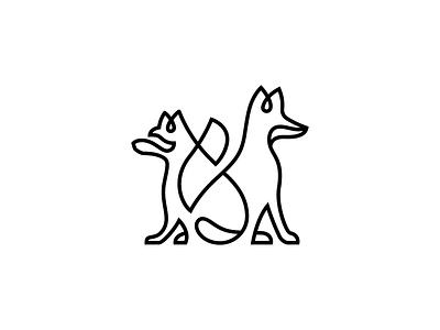 Racoon & Fox logo designer lines identity identity branding mark icon design illustration animal simple illustration animals animals logo monoline one line linework art tattoo line fox racoon
