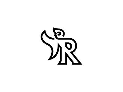 Super R sports health body logo design identity typography icon mark logo human strong cape minimal simple line letter heroic hero superhero