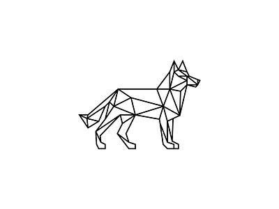 Dog linework dog logo logodesign training center classes training geometry wolf dog identity illustration branding mark logo icon animal one line line art geometic polygonal