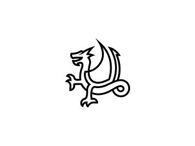 Wyvern one line crest heraldry logos logo redesign sports branding logo design concept mythical creature mythological historical sports logo identity illustration design line minimal mark logo dragon wyvern