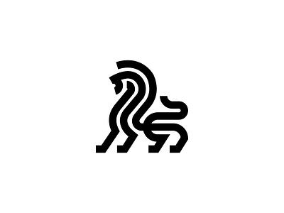 Lion lines illustration design logos animal logos art lions logo designer vector symbol king identity icon branding minimal logo mark animal line lion
