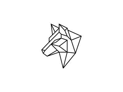 Polygon Wolf fitness sports modern animal branding illustration icon logo mark animals animal logo 3d lines line head god polygonal logo polygon wolf